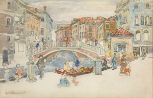Prendergast-Venice, the Little Bridge