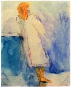 EMIL NOLDE Standing Girl, 1908-10