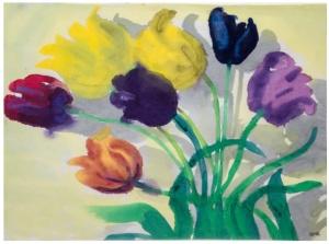 EMIL NOLDE Tulips, ca. 1940