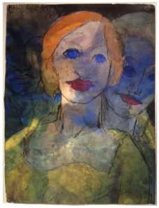 EMIL NOLDE Imagination (Three Heads), 1931-35