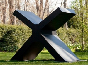 Ron Bladen The X (Garden scale), 1965 Painted aluminum