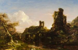 THOMAS COLE An Italian Autumn Oil on canvas 32 x 48 inches