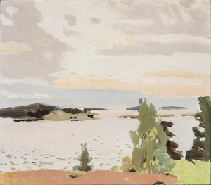 FAIRFIELD PORTER Morning Sky, 1972 Oil on board 14 x 16 inches