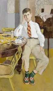 FAIRFIELD PORTER Jerry, 1955, repainted 1975 Oil on canvas  62 x 37 inches
