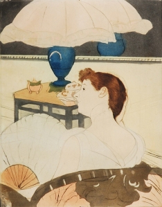MARY CASSATT The Lamp, 1890-1891 Drypoint, soft-ground etching and aquatint