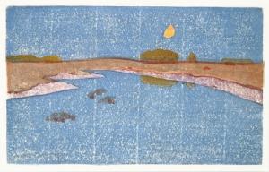 ARTHUR WESLEY DOW Marsh Creek, about 1914 Color Woodcut