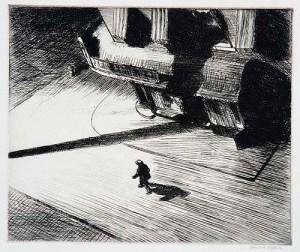 EDWARD HOPPER Night Shadows, 1921-1924 Etching