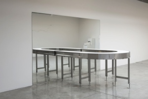 Agnieszka Kurant Untitled , 2014 Conveyor belt and mirror