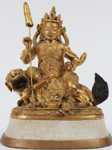 Sino-Tibetan Gilt Bronze 18th Century Figure Courtesy Lark Mason, AAA