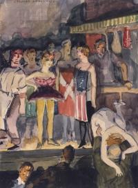 Stuart Davis Babe La Tour, 1912 watercolor