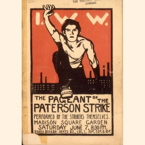 Paterson Strike Pageant in Madison Square Garden organized by John Reed, Margaret Sanger and Mabel Dodge June 7, 1913