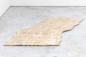 TAUBA AUERBACH The New Ambidextrous Universe II 2013 Plywood 48 x 96 inches, reconfigured