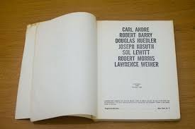 The Xerox Book Carl Andre, Robert Barry, Douglas Huebler, Joseph Kosuth, Sol LeWitt, Robert Morris, Lawrence Weiner