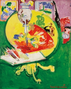 Still Life—Yellow Table on Green, 1936 Oil on panel 60 x 47 1/2 in. (152.4 x 120.7 cm) Dallas Museum of Art. Fractional gift of The Rachofsky Collection in honor of Dr. Dorothy Kosinski, the Barbara Thomas Lemmon curator of European Art (2001.344) Photography courtesy of Dallas Museum of Art