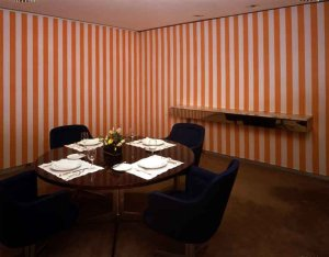 Daniel Buren In the Dining Room, 1982 JP Morgan Chase Art Collection