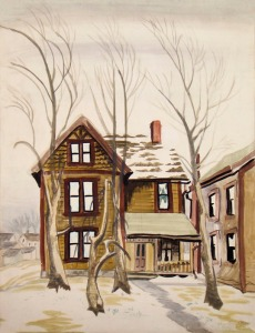 Charles Ephraim Burchfield (1893-1967) Frosted Windows, 1917 Watercolor and pencil on paper, 26 x 20 inches Signed and dated lower right: Chas Burchfield / Jan 1917
