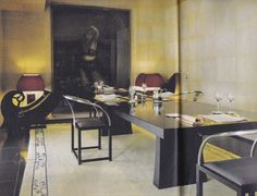 Dining Room Armani Milan Residence Designed by Peter Marino