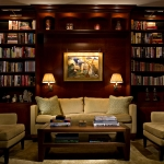 Library, Midtown residence, New York City, Edward Ira Schachner, Architect