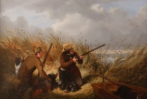 Arthur Fitzwilliam Tait (1819-1905) Duck Shooting over Decoys, 1854 Oil on canvas 30 x 43 inches Signed and dated lower right: A. F. Tait 1854