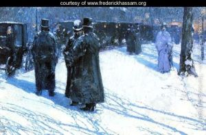 Childe Hassam Cab Stand at Night, Madison Square, New York Smith College Museum of Art Northampton, MA