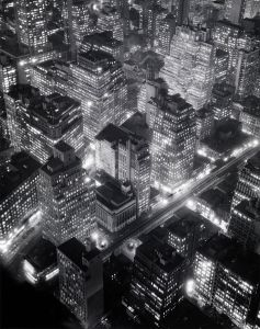 Berenice Abbott Night View: Midtown Manhattan, (New York at Night), 1934 Gelatin silver print Smith College Museum of Art
