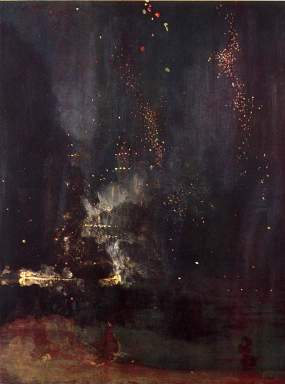 JAMES ABBOTT MCNEILL WHISTLER Nocturne in Black and Gold (The Falling Rocket), 1875