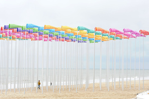 Daniel Buren aniel Buren Le Vent Souffle où il Veut (The Wind Blows Wherever It Pleases) Mixed media Belgium