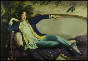 Portrait of Gertrude Vanderbilt Whitney by Robert Henri, 1916
