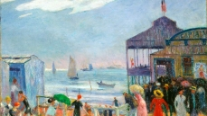 William Glackens Captain's Pier, 1912-1914. Oil on canvas Bowdoin College Museum of Art, Brunswick, ME