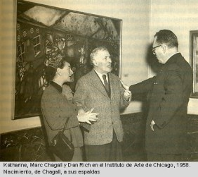 Katharine Kuh. Mark Chagall and Dan Rich Art Institute of Chicago 1958