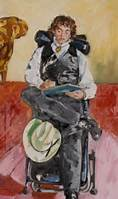Sandra Fisher Portrait of Jake Auerbach Oil on canvas Gift of R.B. Kitaj