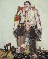 Georg Baselitz, The Shepherd, 1966, oil on canvas, 63 13/16 × 51 3/16 inches (162 × 130 cm) © Georg Baselitz 2016, courtesy Museum Frieder Burda, Baden-Baden. Photo by Jochen Littkemann, Berlin