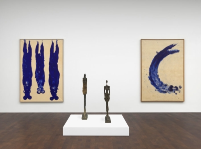 "GAGOSIAN GALLERY LONDON April 27 - June 17, 2016 ""Alberto Giacometti Yves Klein: In Search of the Absolute"" Installation view Photo by Mike Bruce"