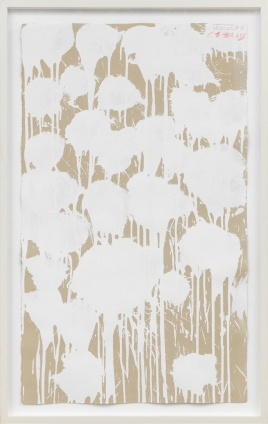 Cy Twombly Untitled, 2003 Acrylic, oil, and wax crayon on handmade paper © Cy Twombly Foundation Photo by Rob McKeever