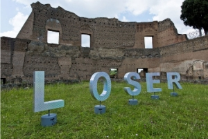 "Piero Golia, Loser, 2003. Courtesy the artist, Bougada & Cargnel, Paris. ""PAR TIBI, ROMA, NIHIL"" at the Nomas Foundation, Roman Forum and Palatine Hill Rome, Italiy"
