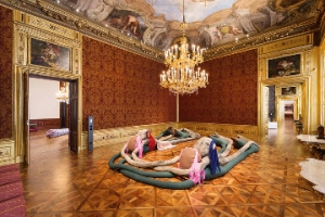 """Sterling Ruby,"" installation view at The Winter Palace at the Belvedere, Vienna, Austria. Artworks © Sterling Ruby Studio. Photo by Sophie Thun"