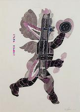 Ray Johnson Cupid with Tender Button 1976