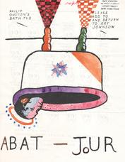 "Ray Johnson Anonymous ""Phillip Guston's Bat Tub"" mailing ca. 1987-89"