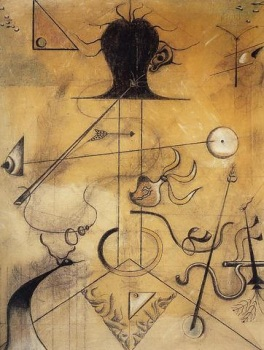 Joan Miró Portrait de Mme K. Charcoal and Crayonw/pastel, sanguine and chalk on canvas Christie's New York: Tuesday, November 2001 Sold For12,656,000 USD Premium