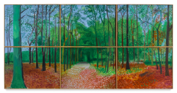 David Hockney WOLDGATE WOODS, 24, 25, AND 26 OCTOBER 2006 oil on canvas, in six parts overall: 72 by 144 in. 182.9 by 365.7 cm.