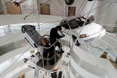 Cai Guo-Qiang: I want to Believe Installing at the Guggenheim