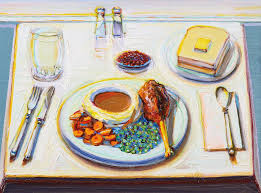 Wayne Thiebaud Turkey Dinner For the cover of the New Yorker November 21, 2011