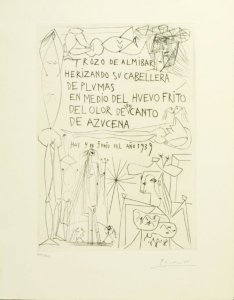 PABLO PICASSO Rafael Alberti, El Entierro del conde de orgaz, Gustavo Gili Ediciones de la Cometa, Barcelona, 1969