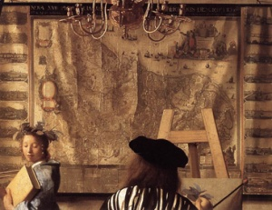 Vermeer The Allegory of Painting 1665-70 (detail)