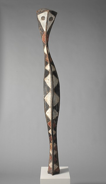 Headdress: Serpent (a-Mantsho-ña-Tshol) 19th–20th century Guinea, Niger River region