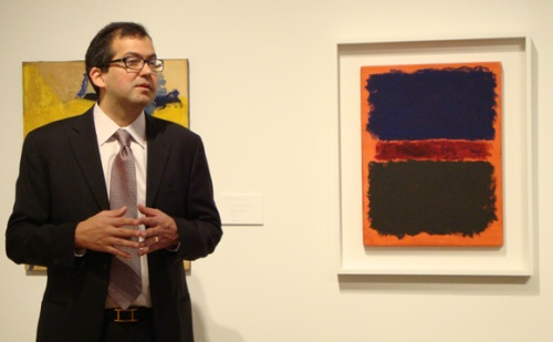 Manley with Mark Rothko painting