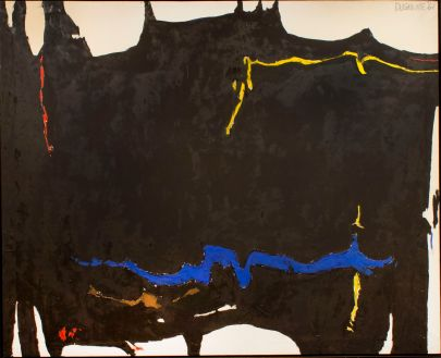 EDWARD DUGMORE Aspen Quartet, 1961 Oil on canvas 69 1/2 x 85 5/8 inches